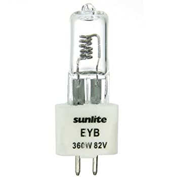 Sunlite EYB 360W/T3.5/82V/CL/G5.3 360-watt 82-volt Bi-Pin Based Stage and Studio T3.5 Bulb, Clear