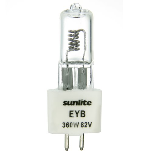 Eyb Projection Lamp - Sunlite EYB 360W/T3.5/82V/CL/G5.3 360-watt 82-volt Bi-Pin Based Stage and Studio T3.5 Bulb, Clear