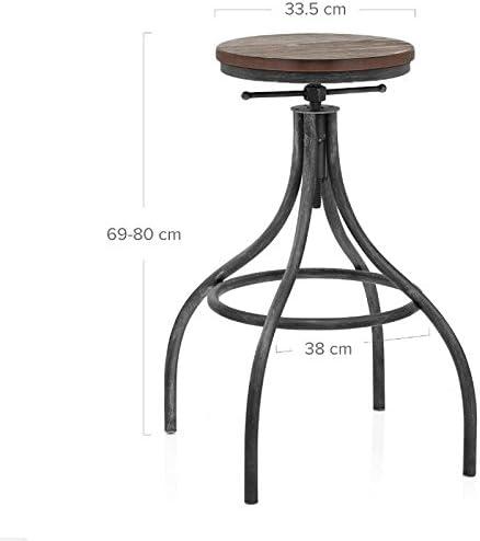 CCJW Table et chaises en Fer de Bois, Bar de Loisirs, Restaurant, Bar, Tabouret de Bar, Vent Vintage, Tabouret