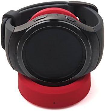 Sharplace Qi Cargador de Cuna Inalámbrica Cargador de Cable de Carga para Motorola Moto 360 SmartWatch - Rojo