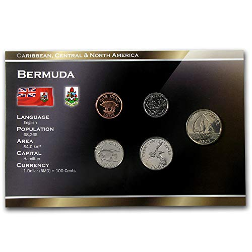 UK 1999-2009 Bermuda 1 Cent-1 Dollar 5 Coin Set Unc Uncirculated