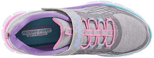 Skechers APPEAL-SPARKTACULAR - Zapatillas de deporte infantiles, color gris, talla 30