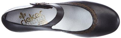 Rieker 42391 - Zapatos Mujer Negro (Schwarz (nero 00))