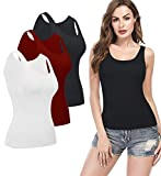 KIWI RATA Camisoles for Women with Built in Bra, Summer Sleeveless Shirt Casual, Comfortable Padded Bra Women cami for...