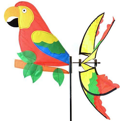 Spinner Parrot - Midwest Design Tropical Parrot Garden Spinner Flag - 39 in