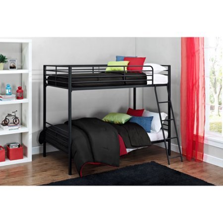 Mainstays Twin over Twin Convertible Bunk Bed Black