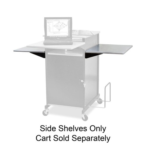Balt Presentation Cart with Optional Shelf, 18-Inch by 18-Inch by 3/4-Inch, Gray