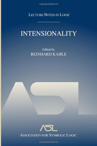 Intensionality: Lecture Notes in Logic 22