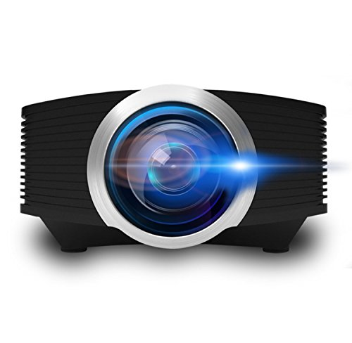 Video Beam Projector, ERISAN Mini Portable Proyetor for Home Movie Video Games, Multimedia w/ HDMI USB Micro-SD VGA Ports