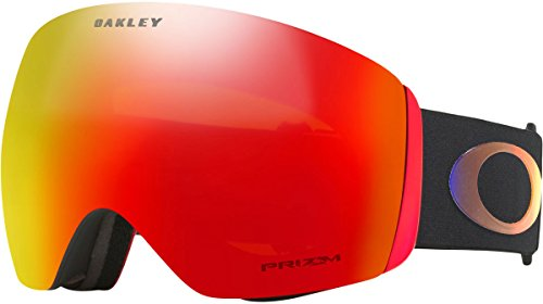 Oakley Flight Deck Asian Fit Snow Goggles, Prizm Halo Frame, Prizm Torch Iridium Lens, Large (Asian Fit Oakley)