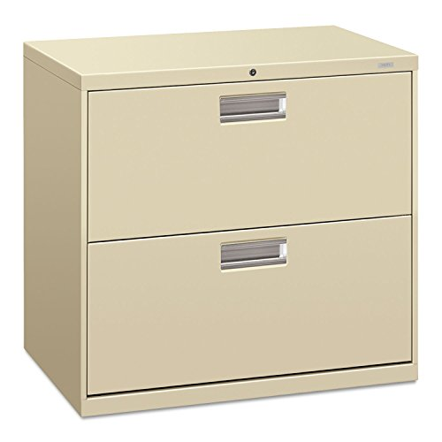 HON 672LL 600 Series 30-Inch by 19-1/4-Inch 2-Drawer Lateral File, Putty