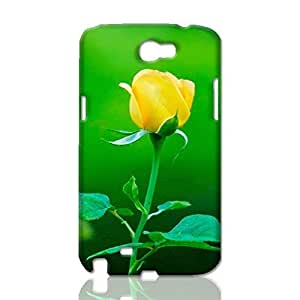 Yellow Rose 3D Rough Case Skin, fashion design image custom, durable hard 3D case cover, Case New Design for Samsung Galaxy Note 2 , By Codystore