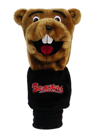Oregon State Beavers Store - Team Golf NCAA Oregon State Beavers Mascot Golf Club Headcover, Fits most Oversized Drivers, Extra Long Sock for Shaft Protection, Officially Licensed Product