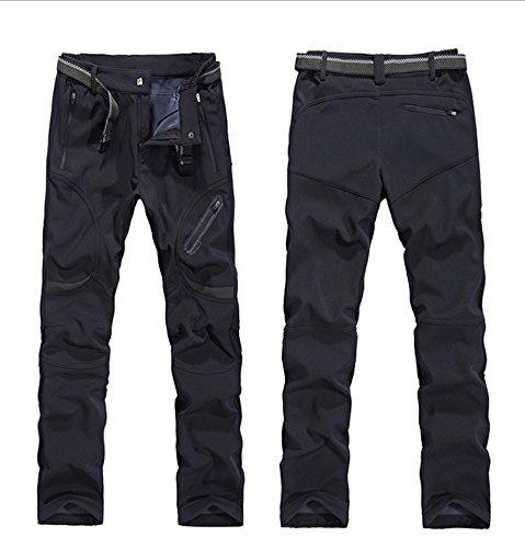 M-3XL Duberess Mens Waterproof Hiking Pants Fleece Fishing Pants Outdoor