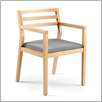 fabric = Navy; finish = Clear Maple Steelcase Sawyer Wood Guest Chair by Steelcase
