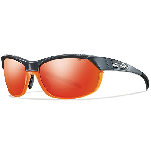 Smith Optics PivLock Overdrive Sunglasses, Gray Orange Frame, Red Sol-X Carbonic TLT - Cycling Smith Glasses