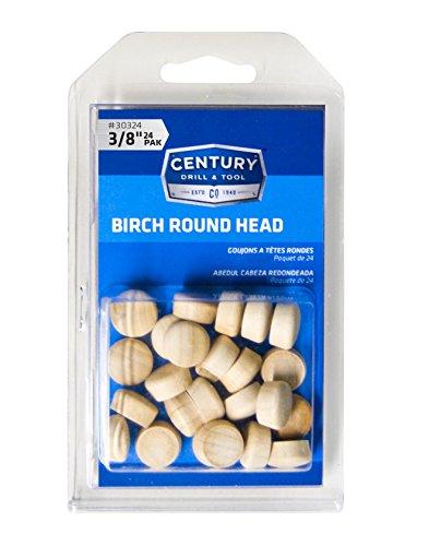 Century 30324 Birch Round Head Wood Plug, ()