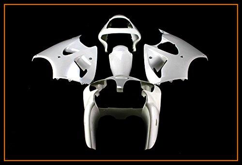 Protek Unpainted ABS Plastic Injection Mold Full Fairings Set Bodywork Cowl for 2000 2001 2002 Kawasaki Ninja ZX6 ZX6R ZX600E ZX600J 2005 2006 2007 2008 ZZR600 (Parts Kawasaki Ninja 2002 Zx6)