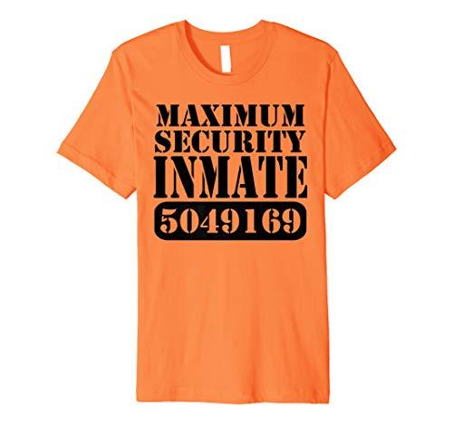 Maximum Security Inmate Halloween Costume Party Fun -