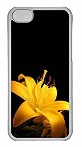 iPhone 5C Case, Personalized Custom Yellow Lilies for iPhone 5C PC Clear Case