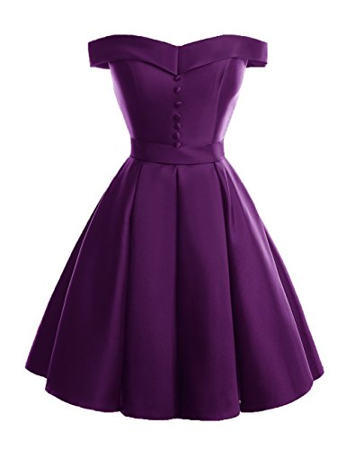 Bridesmaid Dresses Line A Off Grape up Women Prom Homecoming Lace Bridal Shoulder Dora EtYwPqvv