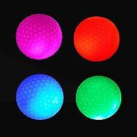 4 balles lumineuses de golf