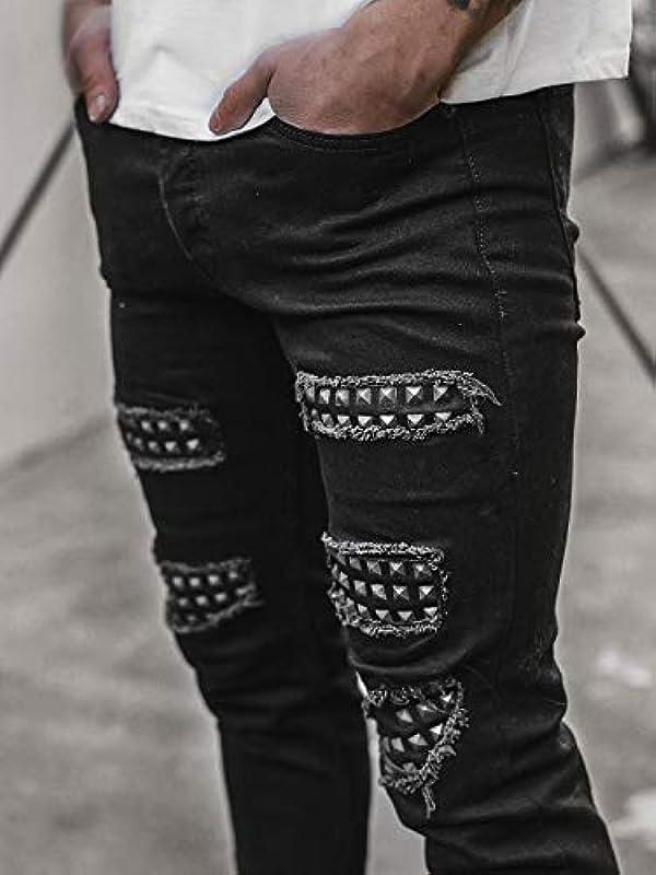 OZONEE męskie dżinsy dżinsy dżinsy skinny rurki dżinsy rowerzysta stretch regularne Slim Fit Straight dżinsy sportowe dżinsy męskie dżinsy dżinsy dżinsy dżinsy d&