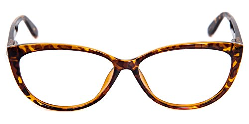 Glassesshop Womens Fashion Oversized Cateye Or High Pointed Eyewear Vintage Inspired Tortoise