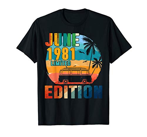 - June 1981 Limited Edition T-Shirt 38 Year Anniversary Gift