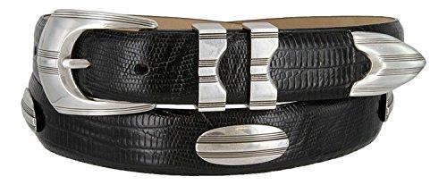 - 81208143 Men's Italian Calfskin Designer Golf Dress Belt (LBLK,46)
