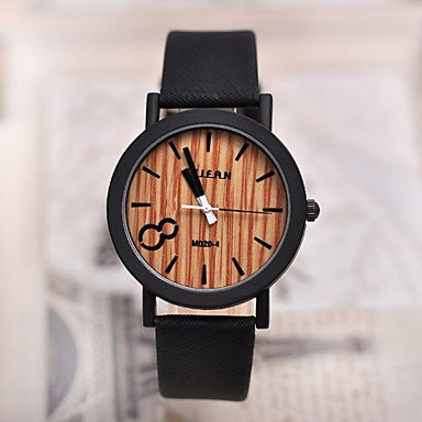 Amazon.com: Watches, Simulation Wooden Relojes Quartz Men Watches Casual Wooden Color Leather Strap Watch Wood Male Wristwatch (Color : Coffee , Gender ...