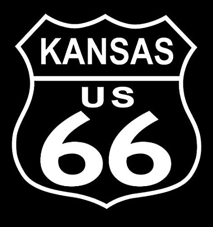 Route 66-American-Highway-Auto-Route-Car-Van-Pick Up-Truck-Wall-Decal-Sticker.