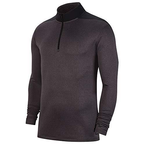 Nike Dry Top Half Zip Core OLC Golf Pullover 2019 Thunder Gray/Gunsmoke/Black Large (Nike Dri Fit Knit Long Sleeve Half Zip)