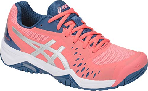 (ASICS Gel-Challenger 12 Women's Tennis Shoe, Papaya/Grand Shark, 8.5 B US )