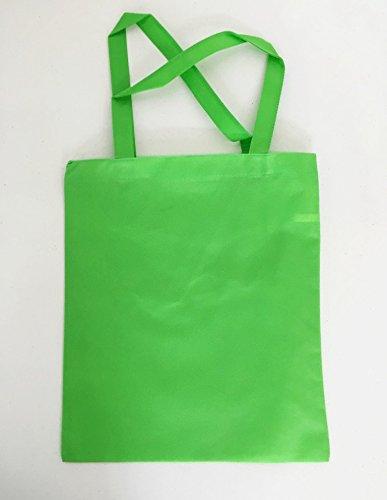 Juego de 12) Eco Plain bolsas de polipropileno de Tote verde ...