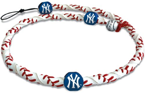 York Rope New - MLB New York Yankees Classic Frozen Rope Baseball Necklace