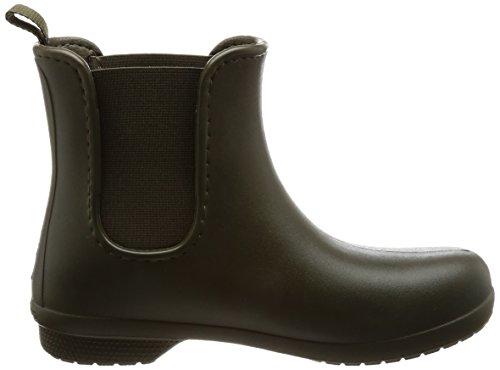 Crocs para Women Camo Mujer Freesail Verde Dark Boot Green Chelsea Botas nr1xfRqnPg