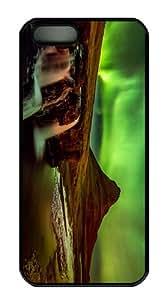 retro cases aurora sky iceland PC Black Case for iphone 5/5S