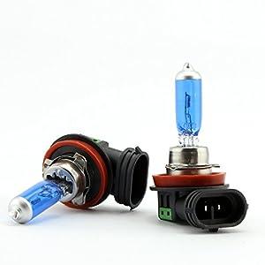 2x H11 100W Car Headlight Lamp Xenon Gas Halogen Light 12V Fog Xenon HID Bulb White