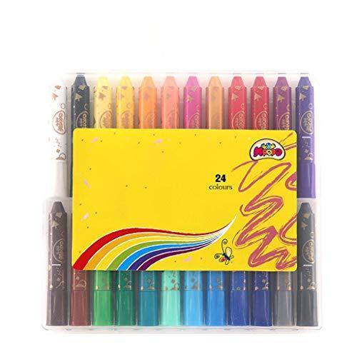 Price comparison product image 36 Colors Kids' Marker Collection Crayon Safe Non-Toxic Colorful Sticks - Washable Color Graffiti Pen Painting Pen (Size : 24 Colors)