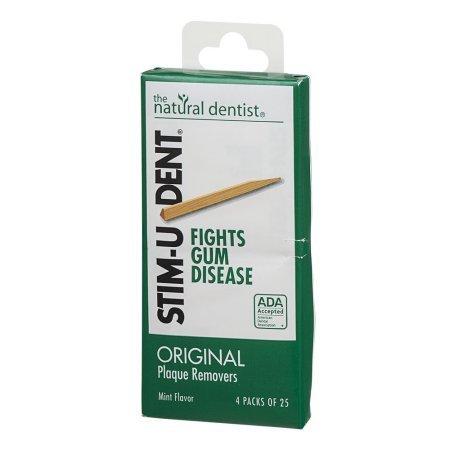 PACK OF 22 - Natural Dentist Stim-u-dent Original Plaque Removers Mint 100 Toothpicks (12 Pack) by Natural Dentist (Image #2)
