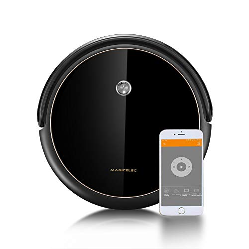 Robot Vacuum Cleaner with Smart Navi GYRO, Systematic Mapping Cleaning, Wi-Fi Connectivity, Ideal for Pet Hair, Carpets, Hard Floor Surfaces, Compatible with Alexa