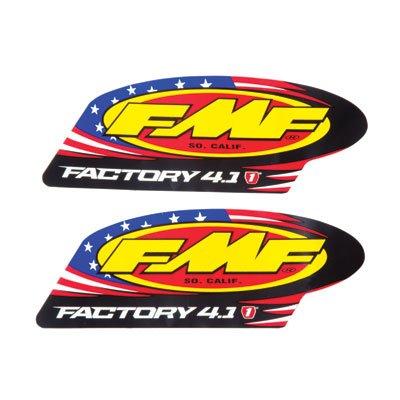 Fmf Silencer Factory 4.1 - FMF Racing Muffler & Silencer Replacement Decal - Factory 4.1 Aluminum 012588