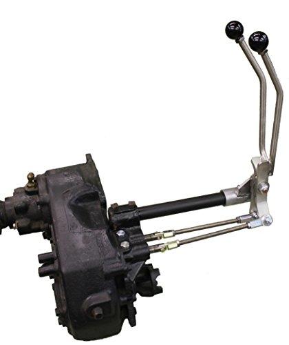 JB Custom Fabrication D20J Stainless Steel Twin-Stick Shifter For Jeep Full Size Wagoneer, Cherokee, J-Series P/U ()