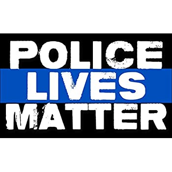 Police lives matter sticker bumper pro cop thin blue line