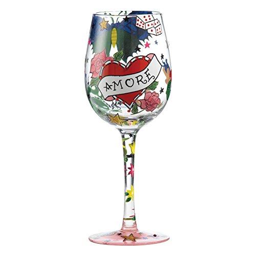 Enesco Lolita Glassware - Tattoo Amore Wine Glass - 22.5cm - GLS11-5522P (Wine Glass Ornament Lolita)