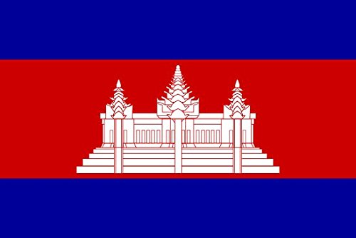 Cambodia Flag 5ft x 3ft Large - 100% Polyester - Metal Eyele