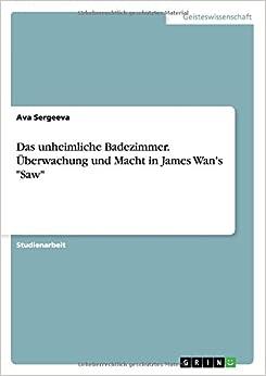 Book Das unheimliche Badezimmer. Überwachung und Macht in James Wan's