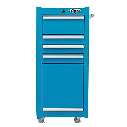 Viper Tool Storage V1804TLR 16 Inch 4 Drawer 18G Steel Rolling Tool/Salon