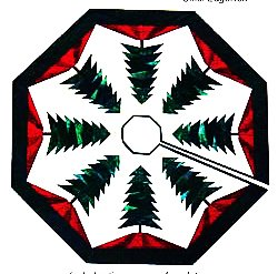 Foundation Paper Piecing Trim The Tree - Tree Skirt Patterns ? 48